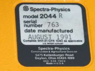 SPECTRA PHYSICS 2044R LASERPLANE 100 LASER LEVEL SYSTEM