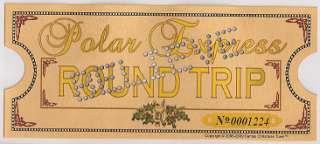 Polar Express Punched Golden Keepsake Ticket Movie Size