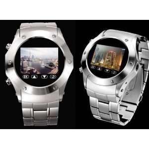 Quadband Waterproof Watch Cell Phone   Silver (Java,