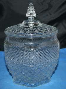 Anchor Hocking Wexford Glass Cookie Jar
