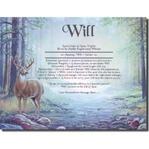 Personalized First Name Meaning Print   Deer Hunter: Home