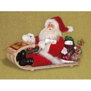 Santa Claus with sled by Karen Didion Originals King of