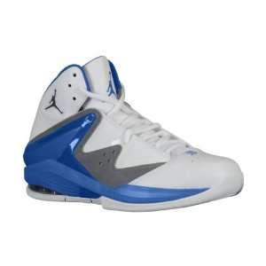 Jordan Pure J Mens Basketball Shoes (14, White/French Blue Flint Grey