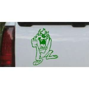 Taz bird Cartoons Car Window Wall Laptop Decal Sticker    Dark Green