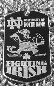 University of Notre Dame Fighting Irish Dog Tag Necklace