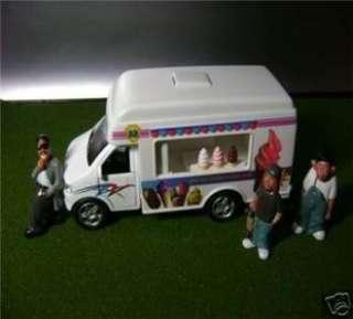 Soft Ice Cream Vending Camper Truck 1/43 (O Scale) Free Gift