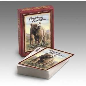 American Expedition Playing Cards Grizzly Bear: Toys & Games