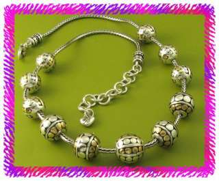 BRIGHTON Silver Gold TEMPLE BEAD Necklace NWotag