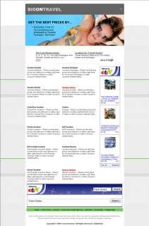 TRAVEL AFFILIATE WEBSITE ONLINE WEB BUSINESS FOR SALE
