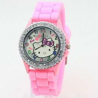 Hello kitty Jelly Silicone Hellokitty Lady Girl Wristwatch crystal