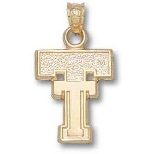Texas Tech Red Raiders Solid 10K Gold Classic TT 3/8