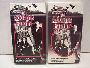 LOT OF 2 THE ADDAMS FAMILY TV SHOW VHS VIDEO TAPES EUC