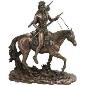Xoticbrands American Indian Warrior Statue Sculpture