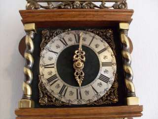 Warmink Dutch Friese tailed Oak 8 Day Wall Clock zaanse clock bim bam