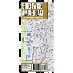 Amsterdam Map   Laminated City Center Street Map of Amsterdam
