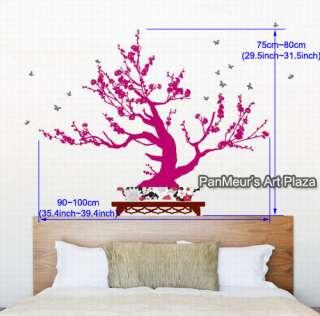 KR 41 Japanese Apricot Bonsai, Decals Wall Art Sticker