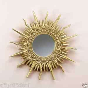 DISTINCTIVE GOLD PLATED SUN RAY WALL MIRROR**NIB