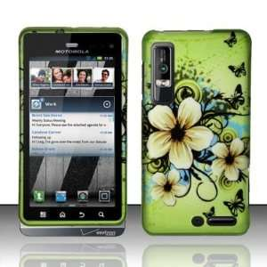 BUTTERFLY FLOWERS Hard Rubber Feel Plastic Design Case for