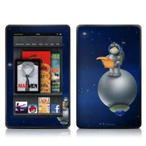 Astronaut Design Protective Decal Skin Sticker for  Kindle Fire