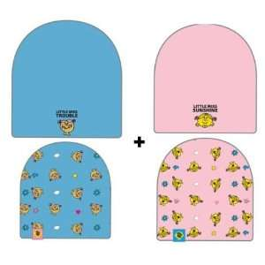 Little Miss Cartoon Beanie Skull Hat Set   Sunshine and Trouble Logo