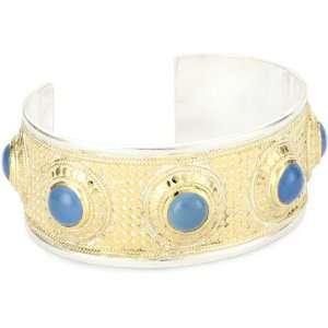 Anna Beck Designs Gili Blue Chalcedony Multi Stone Cuff Bracelet