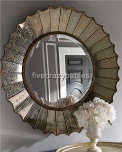 Venetian Sunburst / Starburst Wall Mirror Extra Large Gold Antique New