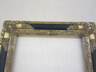 FRAME~ANTIQUE GOLD AND BLACK ~12 X 16~PICTURE FRAME~VINTAGE