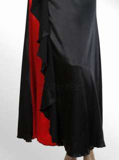 Strapless Black Red Ruffles Alisa Pan Elegant Long Prom Gowns 09345