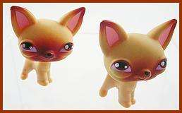 Lot of 2 Littlest Pet Shop #1 CHIHUAHUA Dog Pups LPS