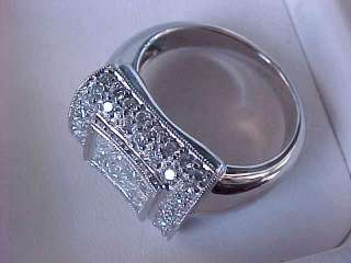 3635 SHOPNBC SAMUEL BEHNAM INVISIBLE SET PRINCESS 1CT DIAMOND RING