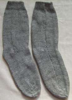 NEW 100% ALPACA WOOL SOCKS 1 PAIR LIGHT GRAY COLOR ANDEAN WARM ANDES