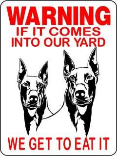 DOBERMAN PINSCHER DOG ALUMINUM SIGN WARNING 2652DP2