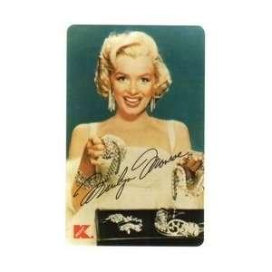Card 3m Marilyn Monroe (Kmart Promotion) Holding Diamond Jewelry