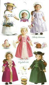 AMERICAN GIRL FELICITY~ELIZABETH STICKERS PARTY FAVORS