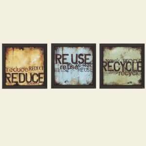 14 X 14 Reuse/Reduce/Recycle Wall Prints: Home & Kitchen
