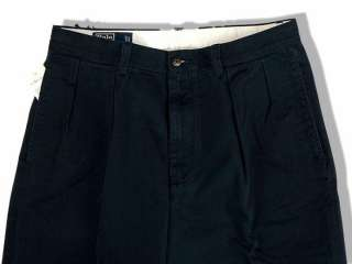 polo ralph lauren navy blue chino cotton andrew pants size
