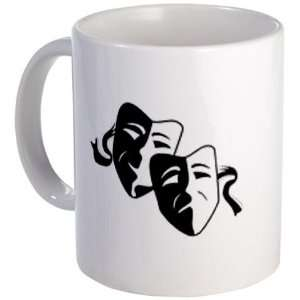 FUNNY FACE Comedy Tragedy Masks Humor 11oz Ceramic Coffee