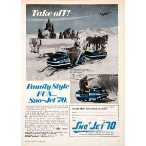 Sno Jet Squadron Snowmobile Super Yamaha Trailblazeer Jet Along Track