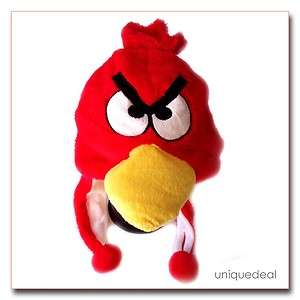 NEW Red * ANGRY BIRD * Cartoon Animal Plush Winter warm Hat Cap