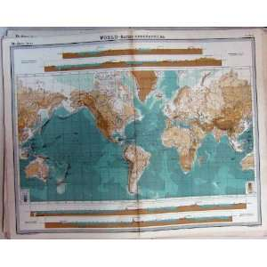 World Bathy Orographical Map Atlas Mountains Height