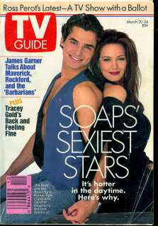 1993 TV Guide: Soaps   Hunter Tylo/Antonio Sabato Jr.