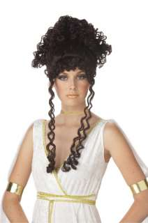 Athenian Goddess Greek Halloween Costume Wig Brunette