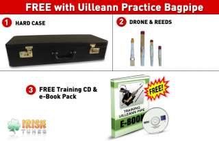 Irish Uilleann Bagpipe Practice Set in Rosewood (Upgradable to Half