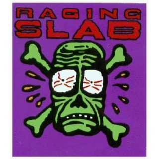 Raging Slab   Green Skull & Crossbones Logo on Purple