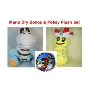 Super Mario Brothers Plush Set Featuring 7 Plush Mario Dry Bones