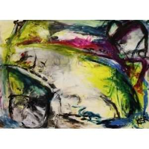 Toxic Lime   Color Abstract Painting, Original Painting