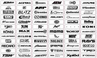 12 CAR PERFORMANCE STICKERS DECALS GRAPHICS GREDDY HKS