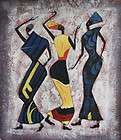 AFRICAN FAMILY Signed Original Canvas Art Oil Painting