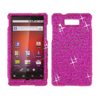 For Motorola Triumph WX435 Diamond Bling Case Cover  Pink 005 Crystal