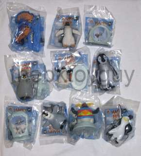2011 Burger King HAPPY FEET 2 toys complete set of 10 all MIB